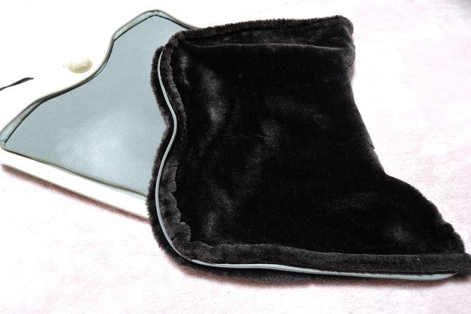 足温器のふわふわカバーはジッパー式