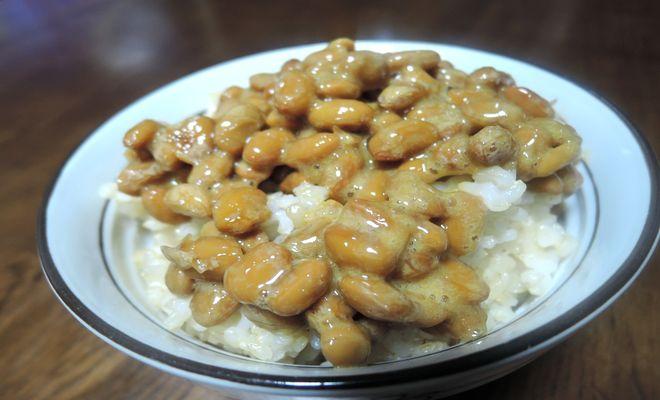 玄米納豆ご飯