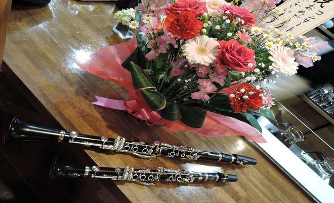 クラリネットと花束