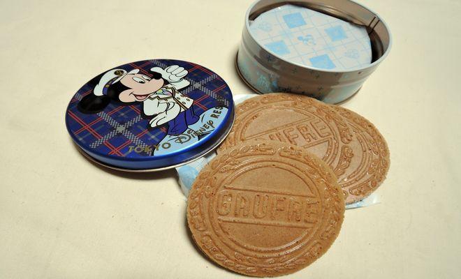 ミッキー缶(ゴーフル)青缶