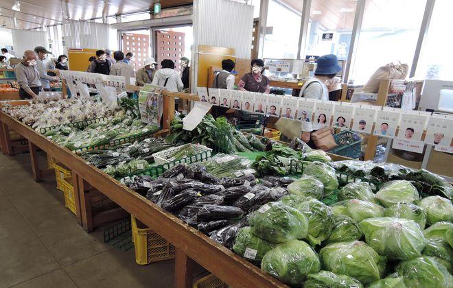 道の駅庄和の野菜売り場