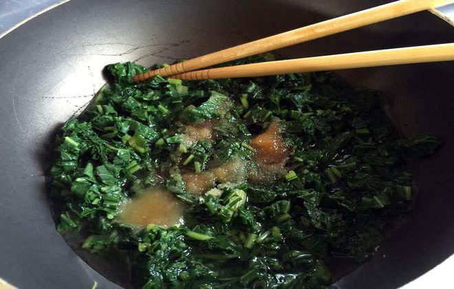 フキの葉の調理