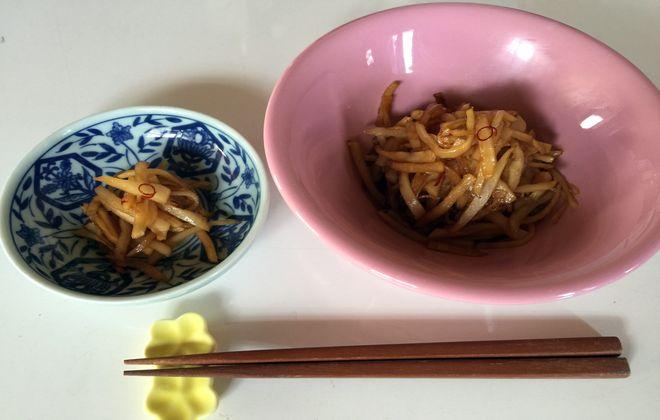 菊芋のきんぴら