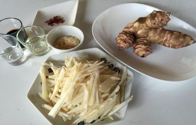 菊芋のきんぴら(材料)