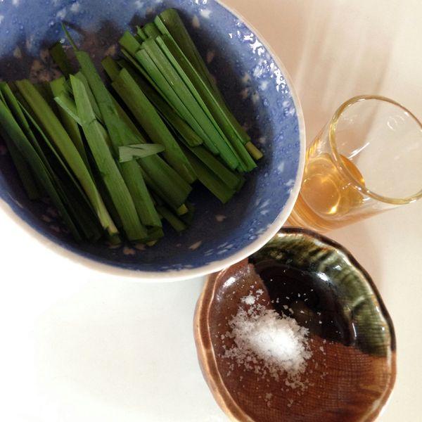 ニラ塩湯の材料