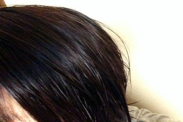 ヘナで染めた髪