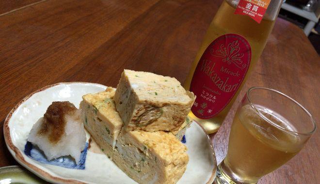 日本酒と卵焼き