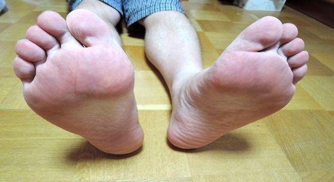 サラサラの足の裏
