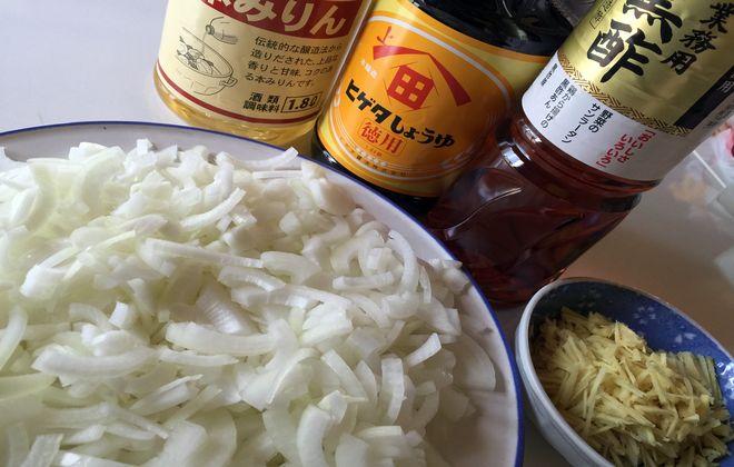味付き酢玉ねぎ材料