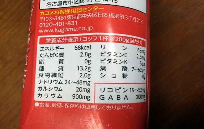 甘いトマトの栄養成分