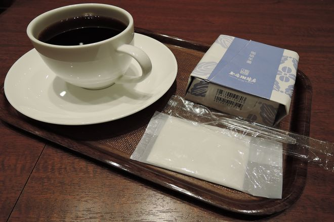 珈琲羊羹とブレンドコーヒー
